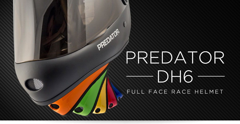 Predator DH6 Full Face Race Helmets